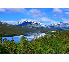 Mountains over the river Photographic Print
