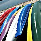 Kayak Colorstripes #6 by Dick  Iacovello