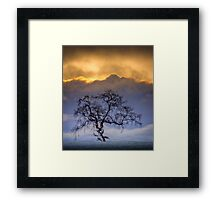Snowstorm clouds... Framed Print