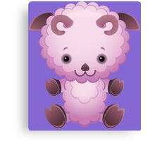Cute pink lamb Canvas Print