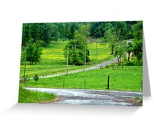 A little bit country.... Greeting Card