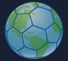 Planet Earth World Cup Soccer Ball by fizzgig