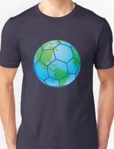 Planet Earth World Cup Soccer Ball Unisex T-Shirt