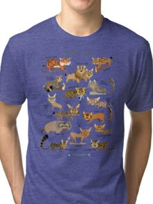 Wild Cats of India Tri-blend T-Shirt