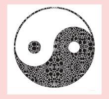 Perfect Balance 1 - Yin and Yang Stone Rock'd Art by Sharon Cummings Kids Tee