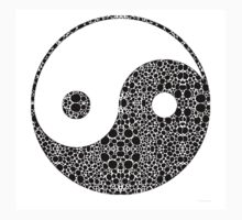 Perfect Balance 1 - Yin and Yang Stone Rock'd Art by Sharon Cummings One Piece - Short Sleeve