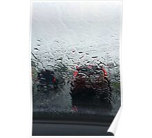 Rain on Windshield Poster