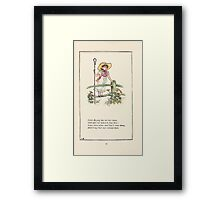 Mother Goose or the Old Nursery Rhymes by Kate Greenaway 1881 0028 Little Bo Peep Framed Print