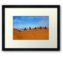 5 Camels Framed Print