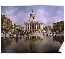 Nottingham Old Market Square Poster