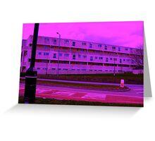 Bauhaus Purple Greeting Card