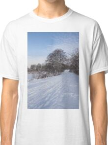 A Pale Blue Snowday  Classic T-Shirt