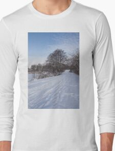 A Pale Blue Snowday  Long Sleeve T-Shirt