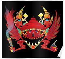 Psychedelic Kremlin Gremlin Poster