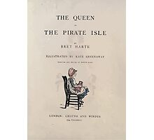 The Queen of Pirate Isle Bret Harte, Edmund Evans, Kate Greenaway 1886 0009 Title Plate Photographic Print