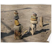Beach Stone Monuments Poster