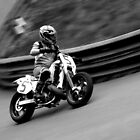 Prescott Speed Hill Climb - Honda CR 508cc (Black & White) by Tom Clancy