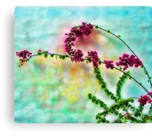Parking Lot Wall Flowers Canvas Print