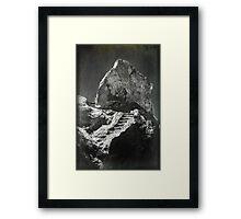 Indian Rock Framed Print