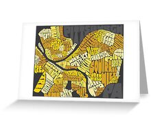 Pittsburgh Neighborhood Map Greeting Card