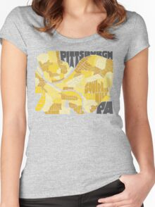 Pittsburgh Neighborhood Map Women's Fitted Scoop T-Shirt