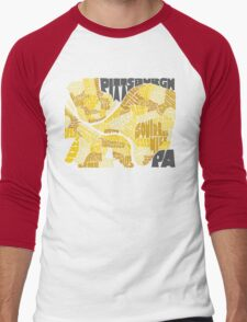 Pittsburgh Neighborhood Map Men's Baseball ¾ T-Shirt