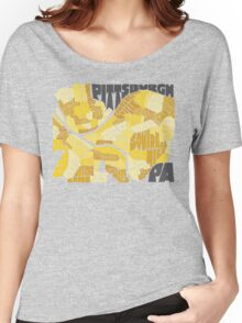 Pittsburgh Neighborhood Map Women's Relaxed Fit T-Shirt