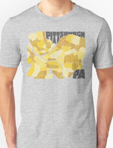Pittsburgh Neighborhood Map Unisex T-Shirt