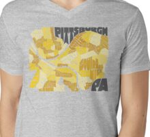 Pittsburgh Neighborhood Map Mens V-Neck T-Shirt