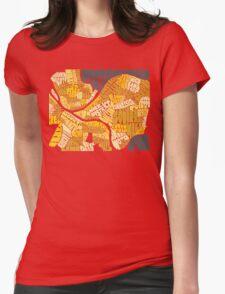 Pittsburgh Neighborhood Map Womens Fitted T-Shirt