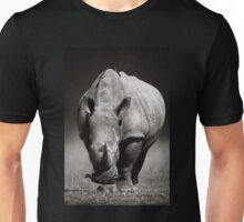 White Rhinoceros  in due-tone Unisex T-Shirt
