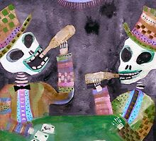 The Gamblers - Day of the Dead art by dayofthedeadart