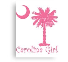 Pink Carolina Girl Palmetto Moon Canvas Print