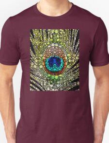 Peacock Feather - Stone Rock'd Art by Sharon Cummings T-Shirt
