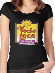 El Vocho Loco (Parody Logo) Women's Fitted Scoop T-Shirt