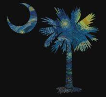 Starry Night Palmetto Moon Baby Tee