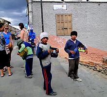 Cuenca ShoeShine Boys by Al Bourassa