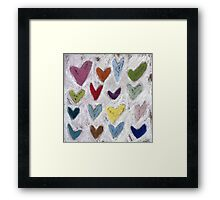 Happy Hearts I Framed Print