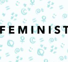 Space Femme (Blue) Sticker