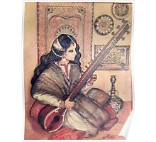 musician with sitar Poster