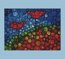 The Roots Of Love Run Deep - Colorful Mosaic Poppy Art Kids Clothes