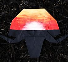 African Sunset-Origami Elephant by loveorigamiart