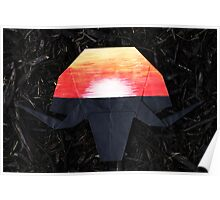 African Sunset-Origami Elephant Poster