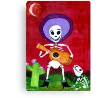 Mariachi Day of the Dead Skeleton  Canvas Print
