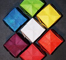 Color Wheel-Origami Water Balloons by loveorigamiart