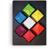 Color Wheel-Origami Water Balloons Canvas Print