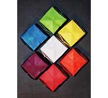 Color Wheel-Origami Water Balloons Photographic Print