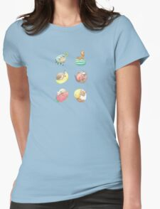 Small Animals & Fruit Womens Fitted T-Shirt