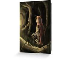 Little Red Riding Hood - Dark Woods Greeting Card