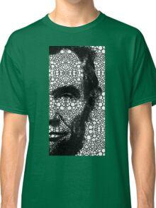 Abraham Lincoln - An American President Stone Rock'd Art Print Classic T-Shirt